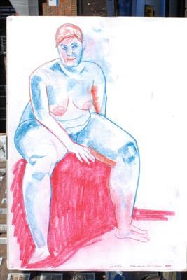 color pastels marila seated